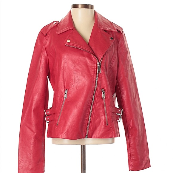 68fcacaea1d Project Runway faux leather jacket